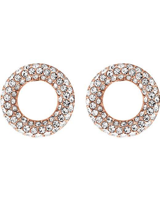 Michael Kors   Metallic Brilliance Rose Gold-toned Pavé Stud Earrings   Lyst