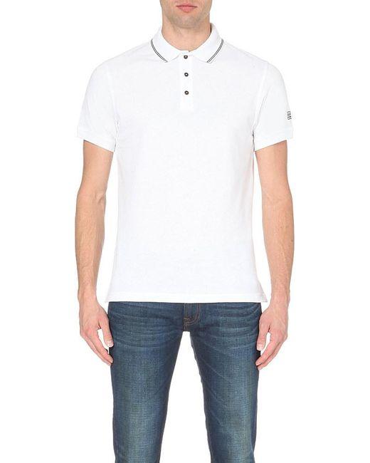 Barbour | White Contrast-trim Cotton-piqué Polo Shirt for Men | Lyst