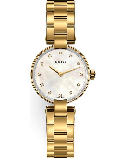 Rado   Metallic R22857923 Coupole Gold Watch   Lyst