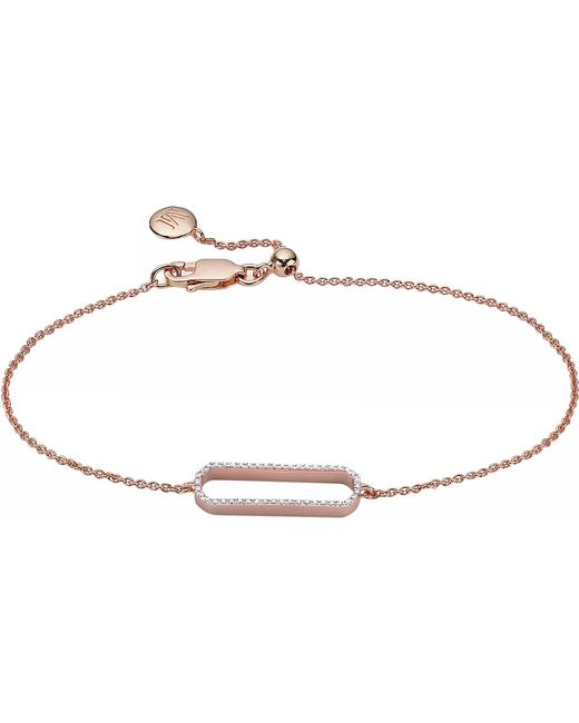 Monica Vinader | Pink Naida 18ct Rose Gold-plated And Diamond Bracelet | Lyst