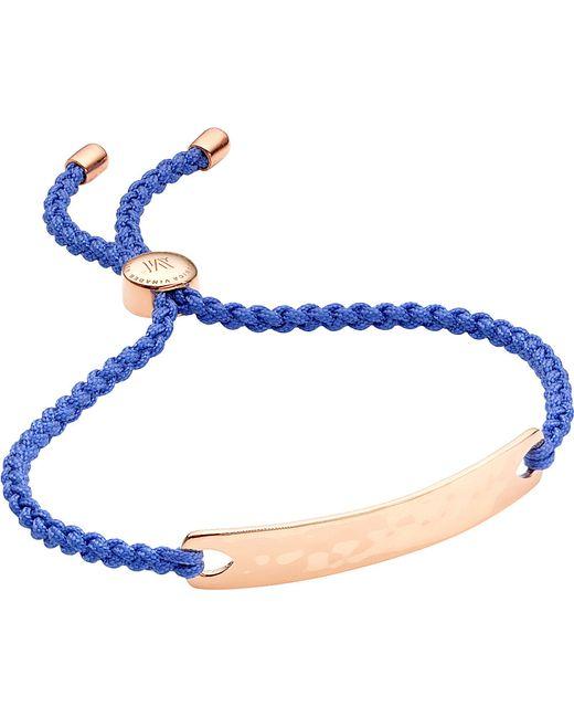 Monica Vinader | Blue Havana 18ct Rose Gold-plated Friendship Bracelet | Lyst
