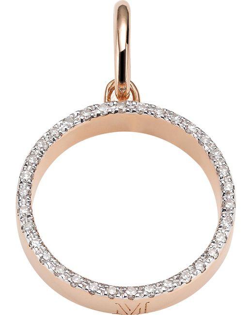 Monica Vinader | Metallic Naida 18ct Rose-gold Vermeil And Diamond Pendant | Lyst