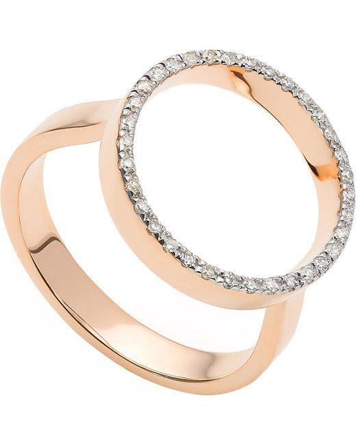Monica Vinader   Pink Naida Circle Open Ring   Lyst