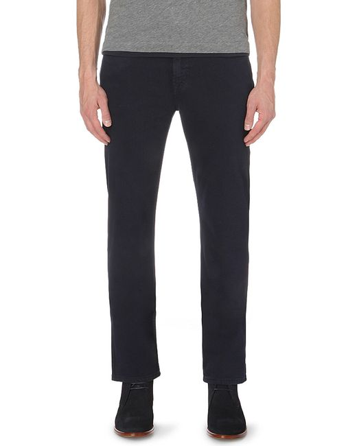 7 For All Mankind | Black Slimmy Luxe Performance Slim-fit Tapered Jeans for Men | Lyst