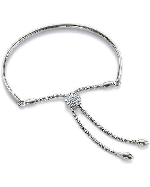Monica Vinader   Metallic Fiji Diamond Toggle Bracelet   Lyst