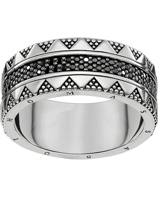 Thomas Sabo | Metallic Filigree Sterling Silver And Zirconia Ring | Lyst