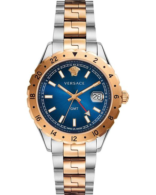 Versace | Metallic V11060017 Acropolis Gold And Stainless Steel Watch | Lyst