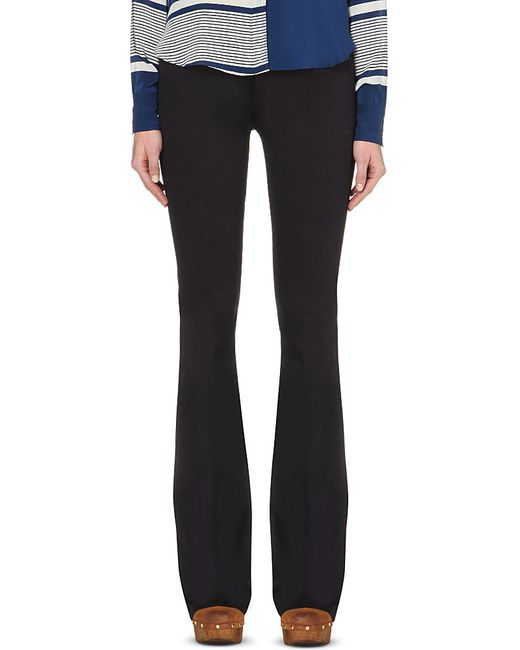 MiH Jeans | Black Marrakesh Flared High-rise Jeans | Lyst