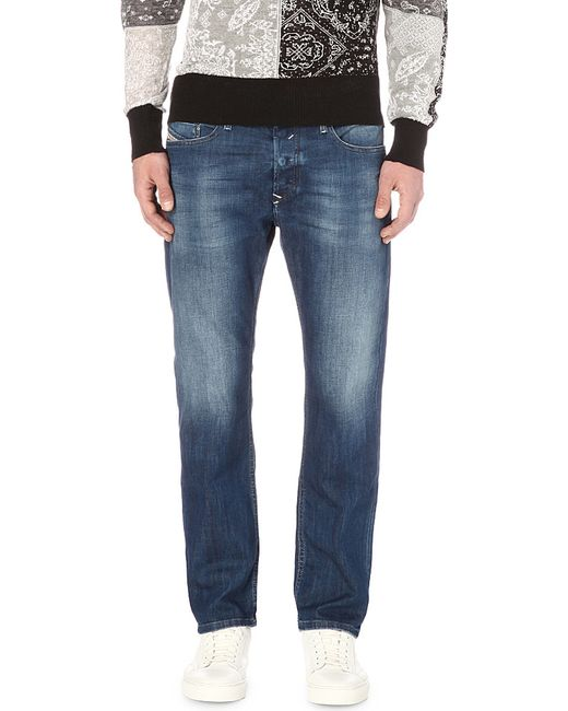 DIESEL | Blue - 'tepphar 0855g' Jeans - Men - Cotton/spandex/elastane - 30/34 for Men | Lyst
