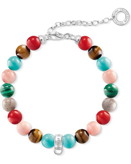 Thomas Sabo | Red Charm Club Multi-stone Charm Bracelet | Lyst