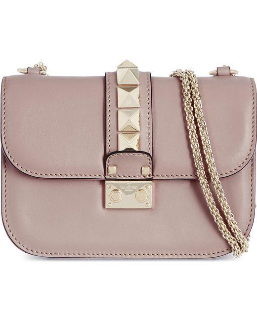Valentino - Purple Stud Lock Small Shoulder Bag - Lyst