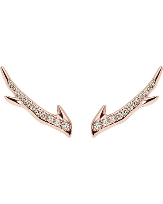Shaun Leane - Multicolor Cherry Branch Rose-gold Vermeil And Diamond Earrings - Lyst