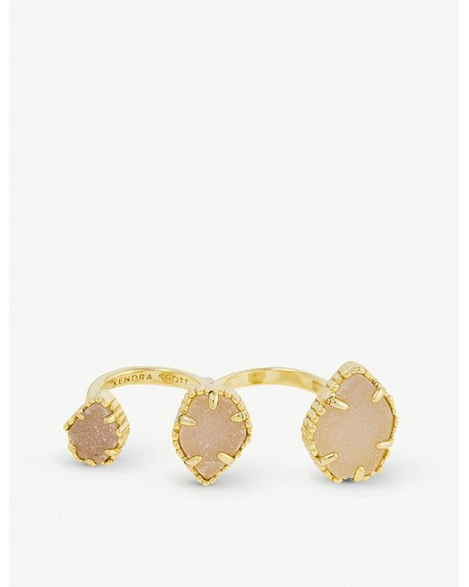 Kendra Scott - Metallic Naomi 14ct Gold-plated And Iridescent Drusy Ring - Lyst