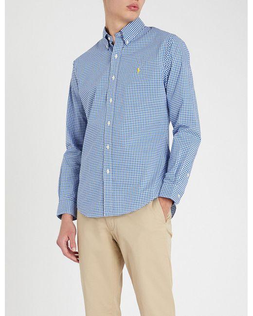 2d0e5d0c51c Polo Ralph Lauren - Blue Logo-embroidered Slim-fit Cotton Shirt for Men -