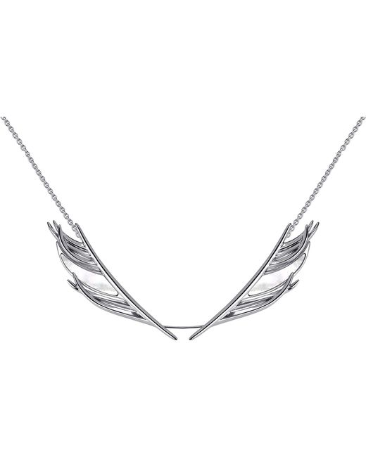 Shaun Leane - White Feather Silver And Mother-of-pearl Necklace - Lyst