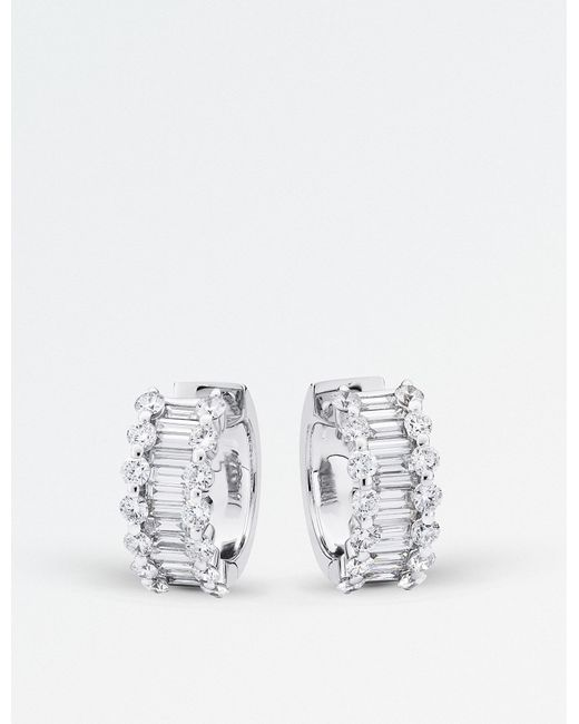 BUCHERER JEWELLERY - Metallic Classics 18ct White Gold Diamond Earrings - Lyst