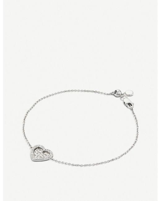 BUCHERER JEWELLERY - Metallic Infinite Love 18ct White-gold Diamond Bracelet - Lyst