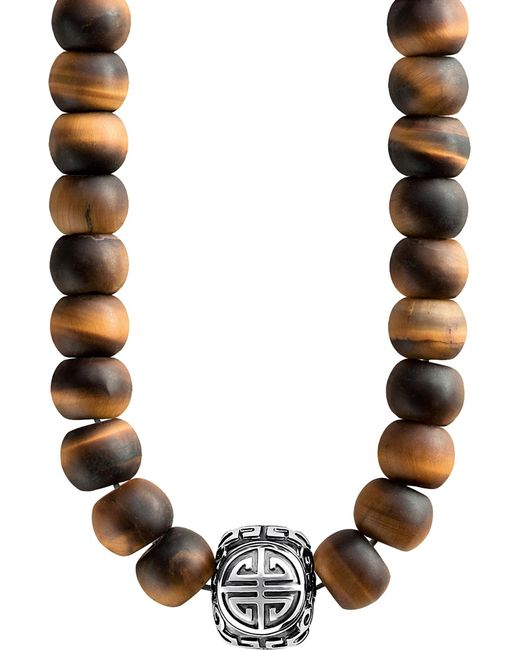 Thomas Sabo - Brown Rebel At Heart Mala Power Sterling Silver And Tiger's Eye Bead Necklace - Lyst