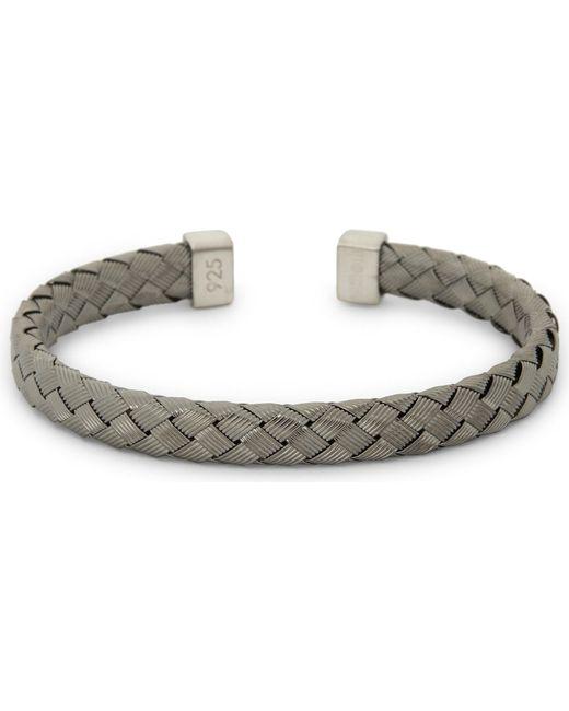 Tateossian   Metallic Bamboo Braid Sterling Silver Bracelet   Lyst