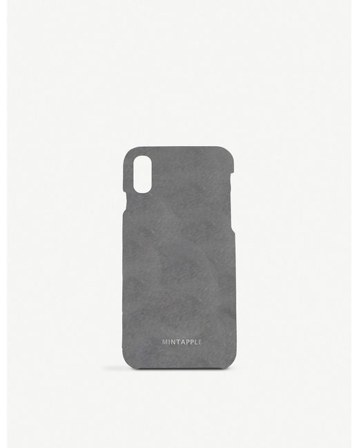 hot sale online 4359a 3367d Women's Gray Classic Suede Iphone Xs Max Case