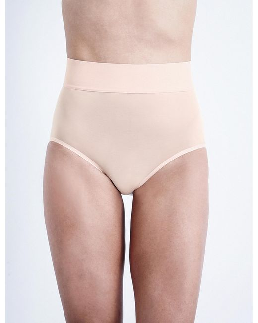 Wolford | Pink Sheer Touch High-rise Control Briefs | Lyst
