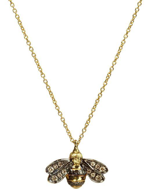 Annoushka - Black Love Diamonds 18ct Yellow-gold Bee Pendant Necklace - Lyst