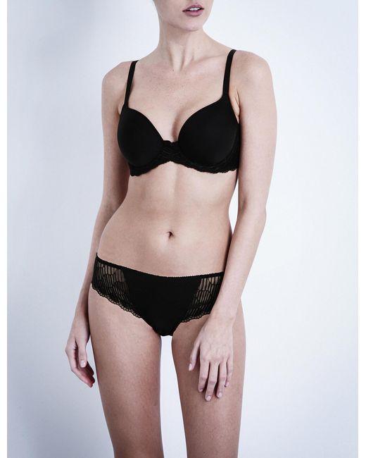 Wacoal La Femme Jersey Underwired Contour Bra in Black