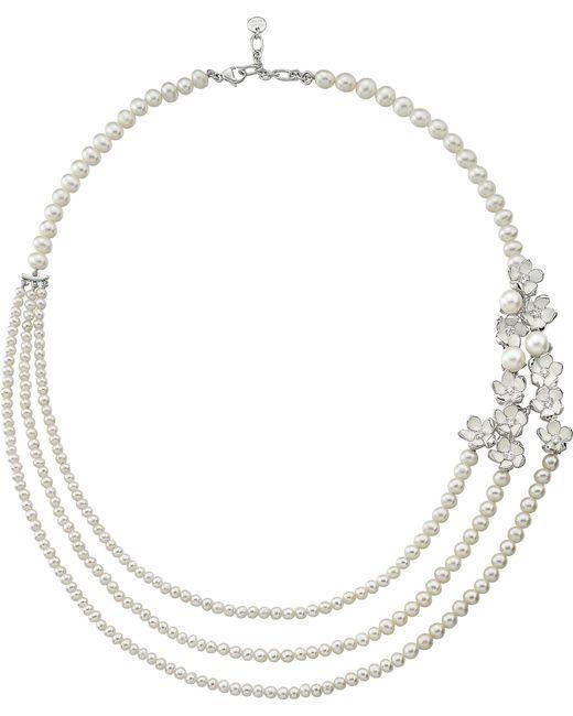 Shaun Leane - Metallic Rose Gold Cherry Blossom Diamond Necklace - Lyst