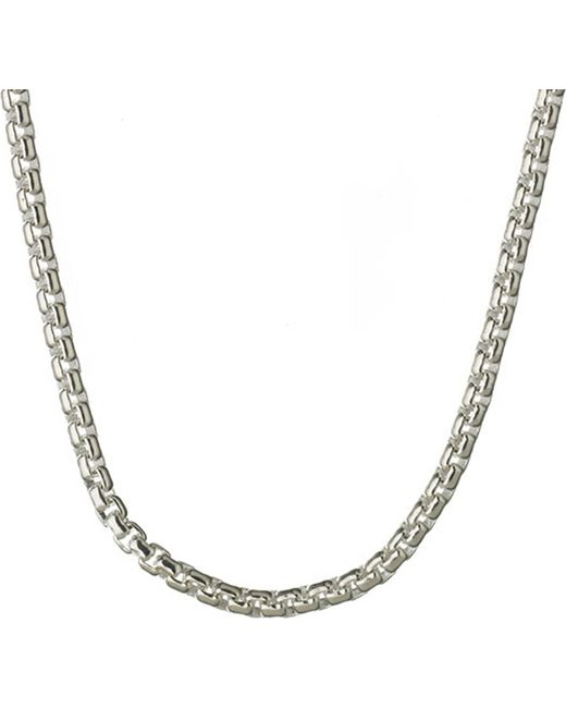 Links of London | Metallic Sterling Silver Box Belcher Chain | Lyst