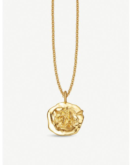 Missoma - Metallic Geo Small Desert Rose 18ct Gold-plated Necklace - Lyst