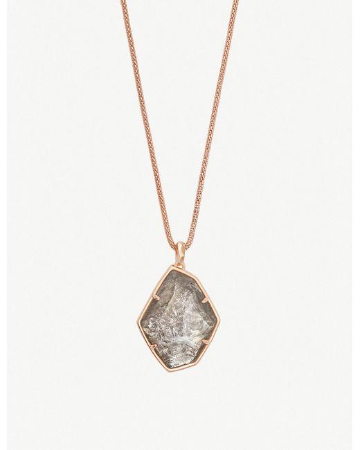 Kendra Scott - Metallic Kalani 14ct Rose Gold-plated Necklace - Lyst