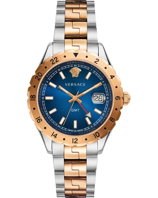 Versace - Metallic V11060017 Acropolis Gold And Stainless Steel Watch - Lyst