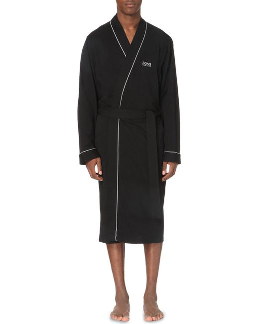 BOSS - Black Hugo Kimono Cotton Bathrobe for Men - Lyst