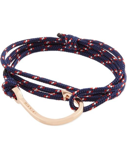 Miansai | Blue Rose Gold Rope Hook Bracelet | Lyst