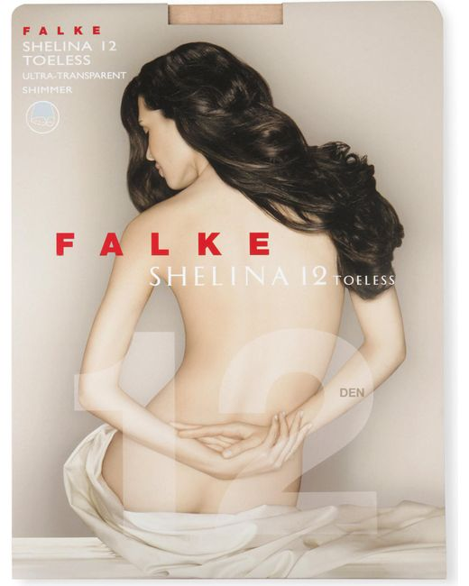 Falke | Natural Shelina 12 Toeless Tights | Lyst