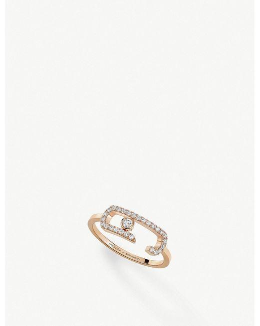 Messika - Pink Gigi Hadid Move Addiction 18ct Rose-gold Diamond Ring - Lyst