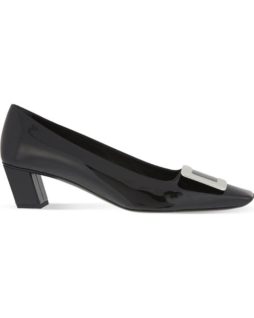Roger Vivier - Black Belle Vivier Leather Pumps - Lyst