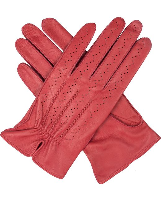 Dents - Red Madison Hairsheep Leather Gloves - Lyst