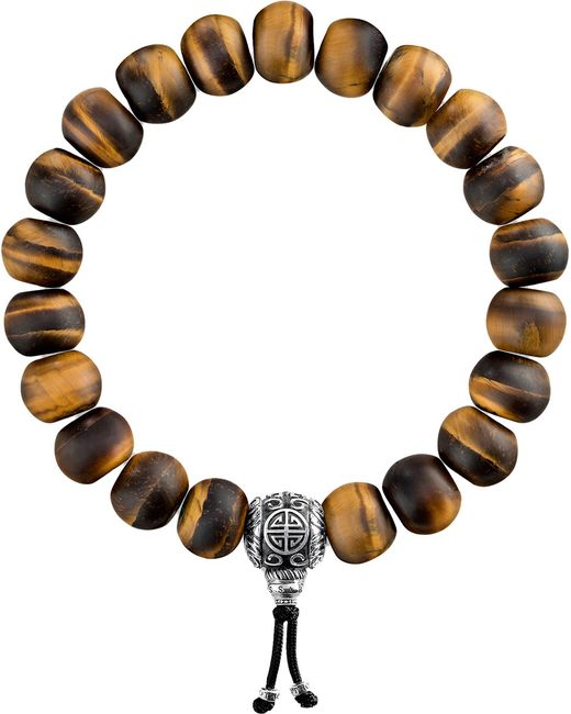 Thomas Sabo - Brown Rebel At Heart Tiger's Eye Beaded Bracelet - Lyst