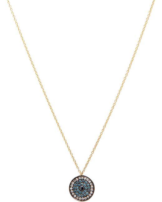 Annoushka - Love Diamonds 18ct Yellow-gold And Diamond Evil Eye Pendant Necklace - Lyst