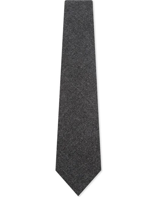 Drake's | Gray Solid Cashmere Tie for Men | Lyst