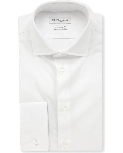 Richard James - Black Cotton-poplin Regular-fit Shirt for Men - Lyst