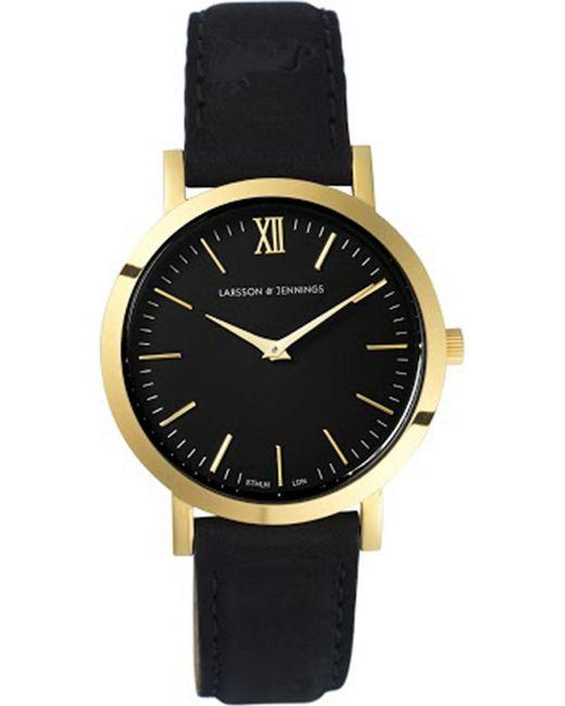 154ee28bd68 Larsson   Jennings  lugano  Leather Strap Watch in Black - Save 66 ...