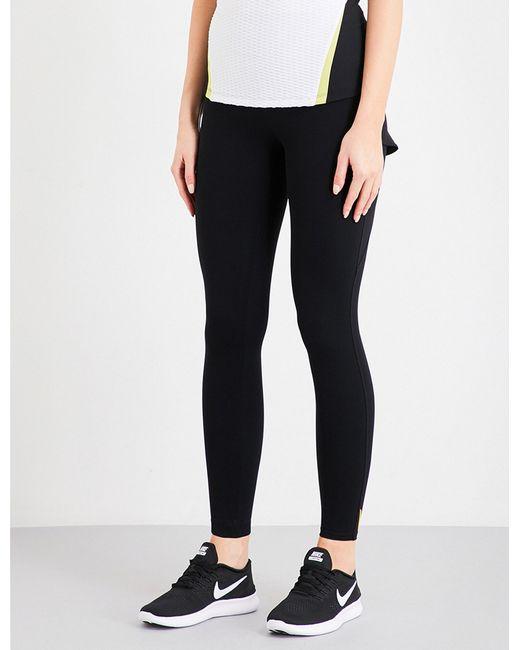 Sàpopa | Black Nuova Frilled Stretch-jersey Leggings | Lyst