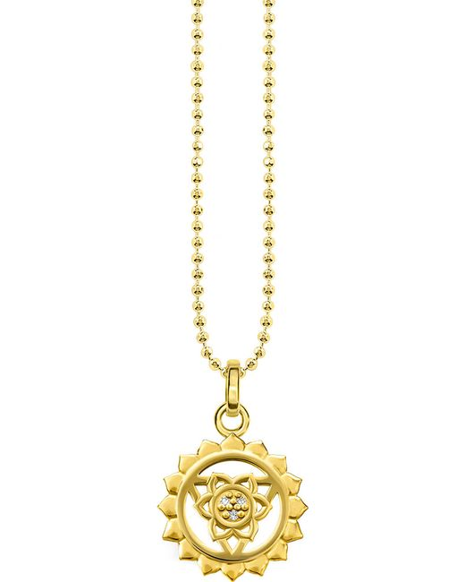 Thomas Sabo - Metallic Viśuddha 18ct Gold-plated Sterling Silver And Crystal Necklace - Lyst