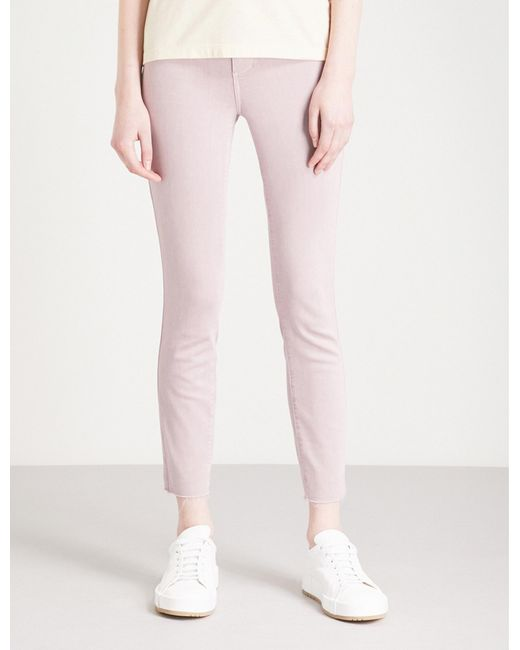 PAIGE - Pink Verdugo Crop Ultra-skinny Mid-rise Jeans - Lyst