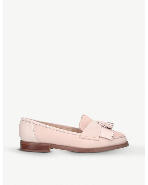 Carvela Kurt Geiger - Pink Leona Tassel Leather And Suede Loafers - Lyst