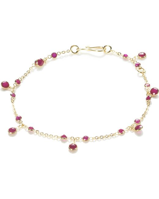 Annoushka | 18ct Yellow Gold And Ruby Nectar Cherry Droplet Bracelet | Lyst