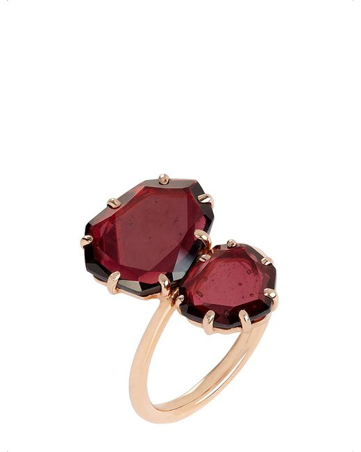 Annoushka - Red 18ct Rose Gold And Garnet Shard Ring - Lyst