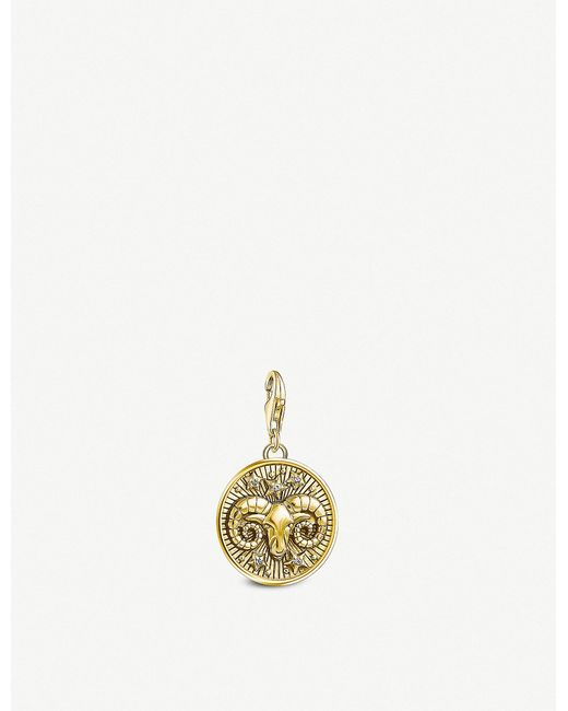 Thomas Sabo - Metallic Aries Gold-plated Zodiac Charm - Lyst